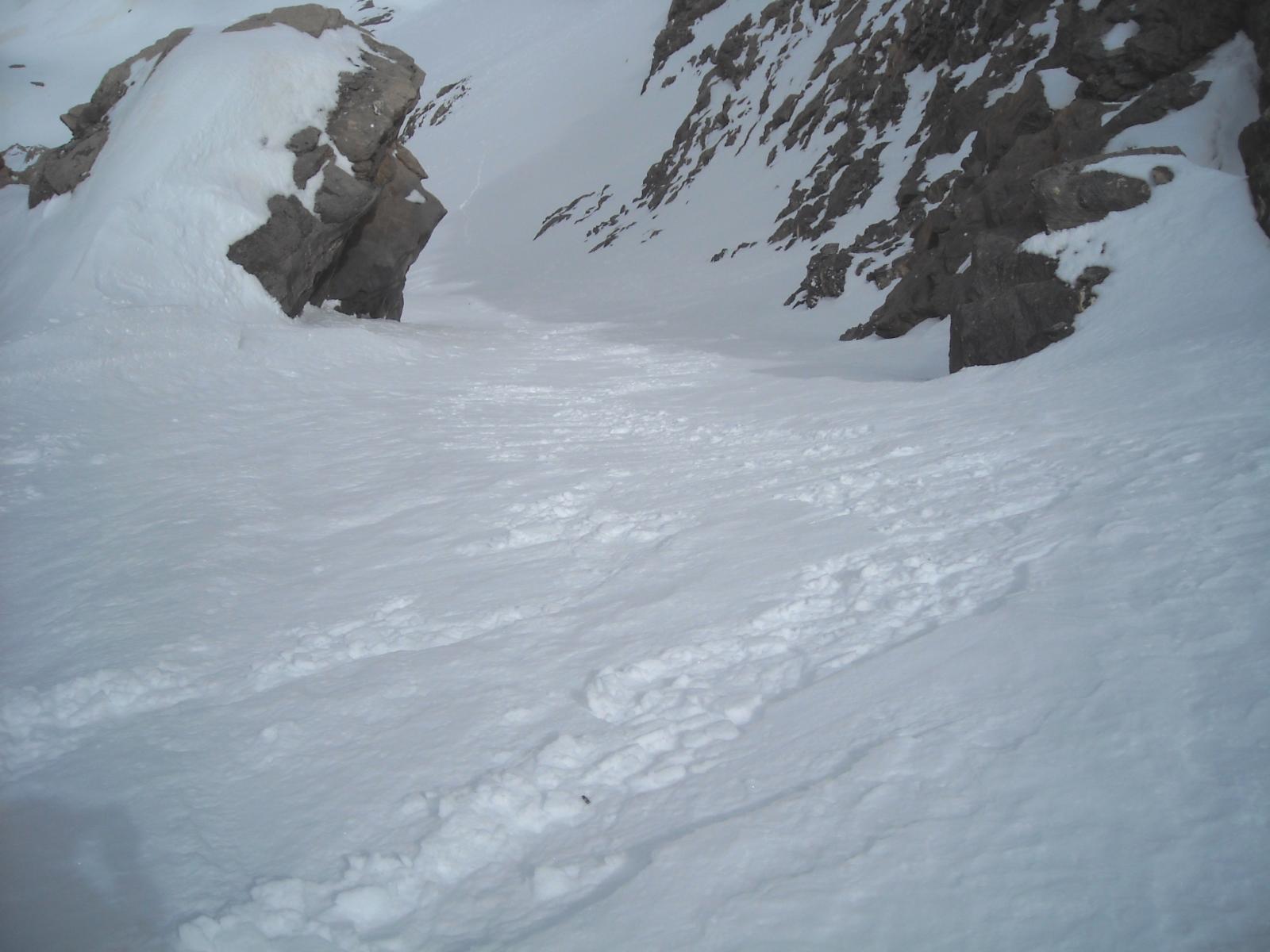 Per niente stretto, buona neve quasi fresca