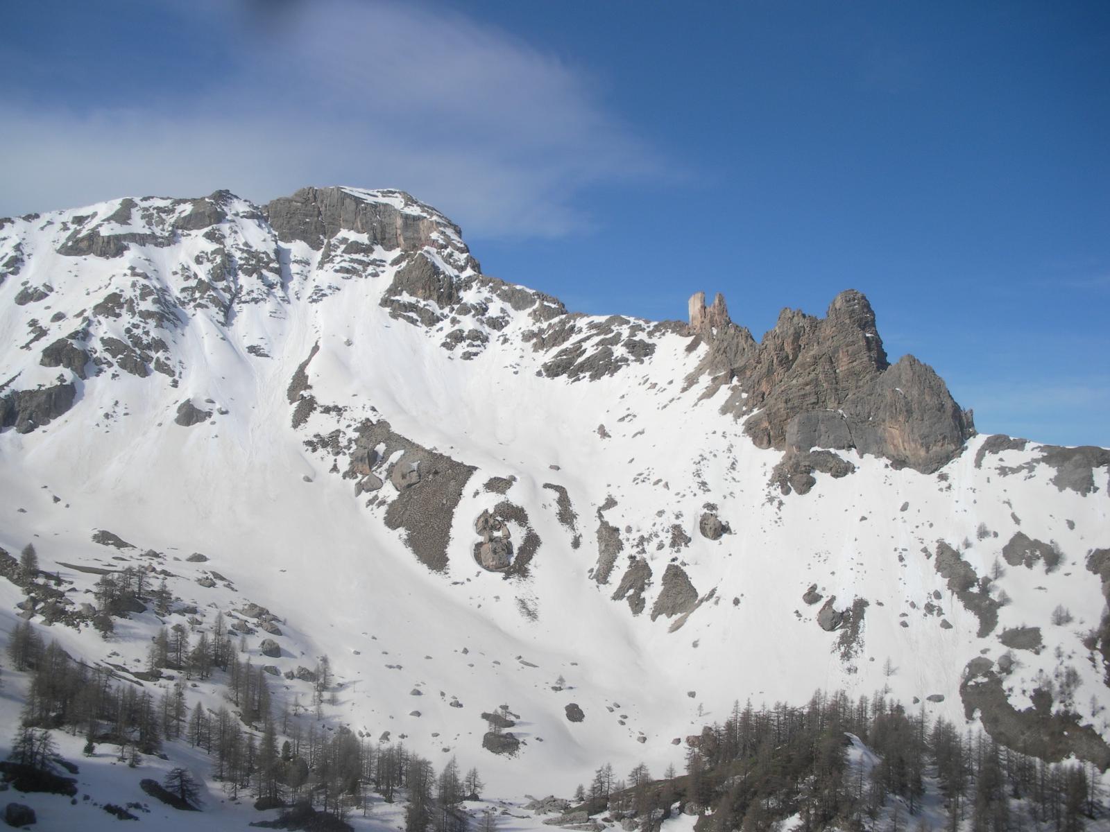 La Tome ou le Peyron da Fond Froid..a monte del Calvaire du Vallon.