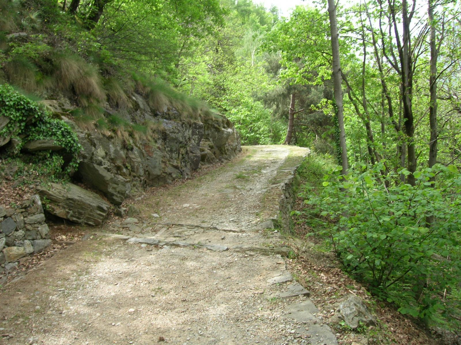La strada dopo il forte.