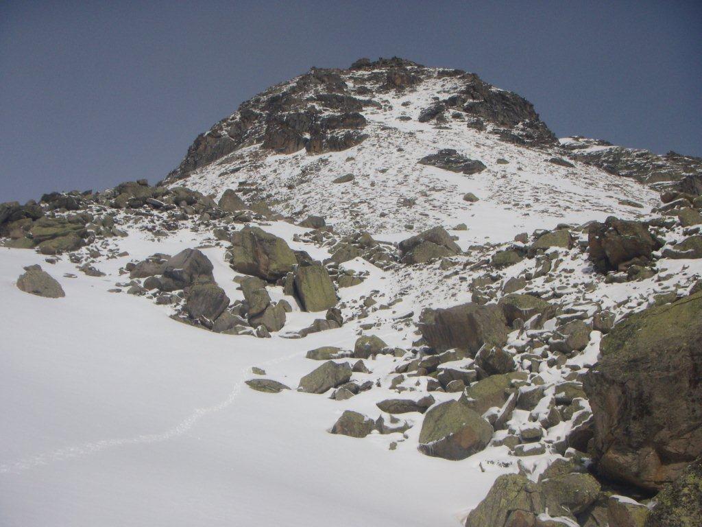 il Monte Morion col versante da risalire
