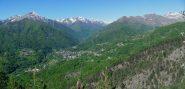 panorama sulla valle di Viù