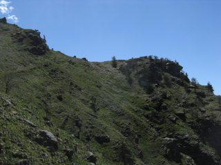 La Rocca del Pelvo dall'ultimo traverso