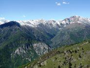 Il vallone del Bourcet visto dalla cima