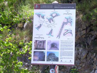 tabella descrittiva della Batteria sul monte Lega