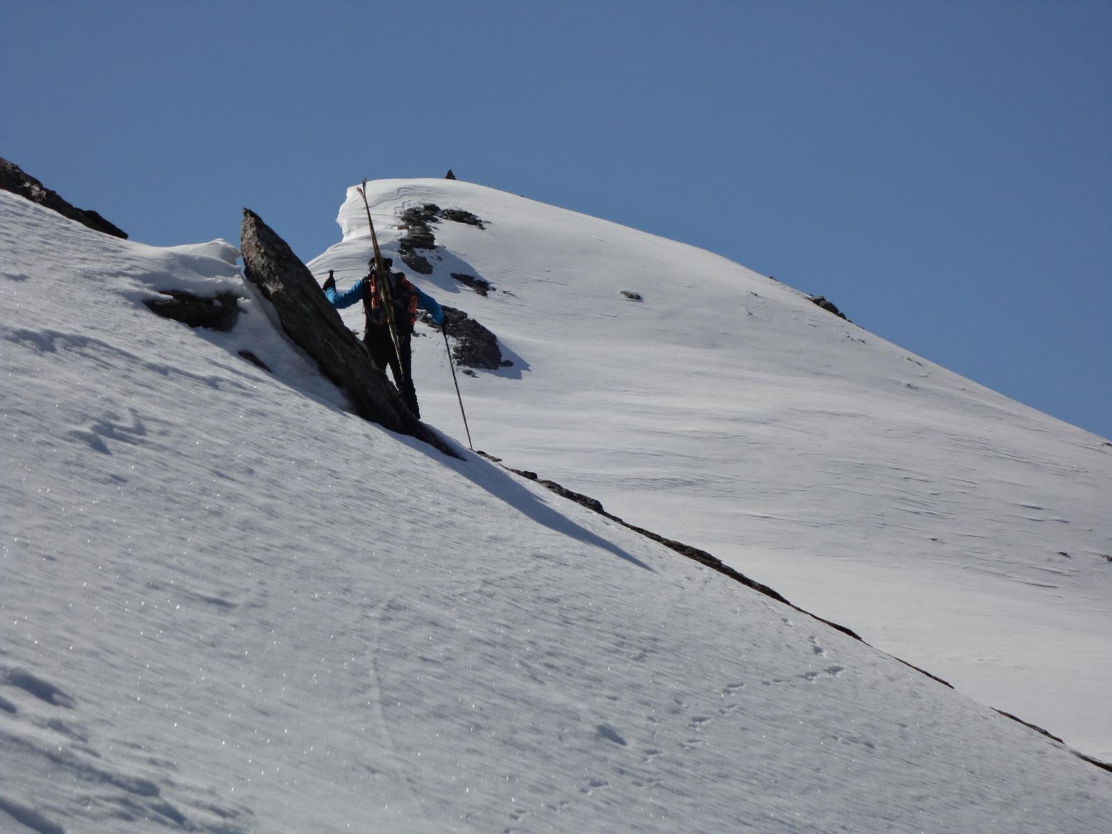 l'ultimo tratto verso la cima
