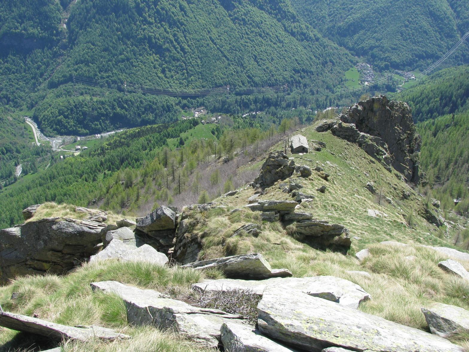 Discesa all'Alpe Giuia