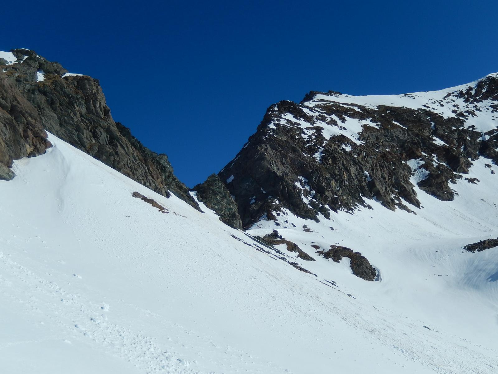 arrivo al colle Fussi, finalmente la neve