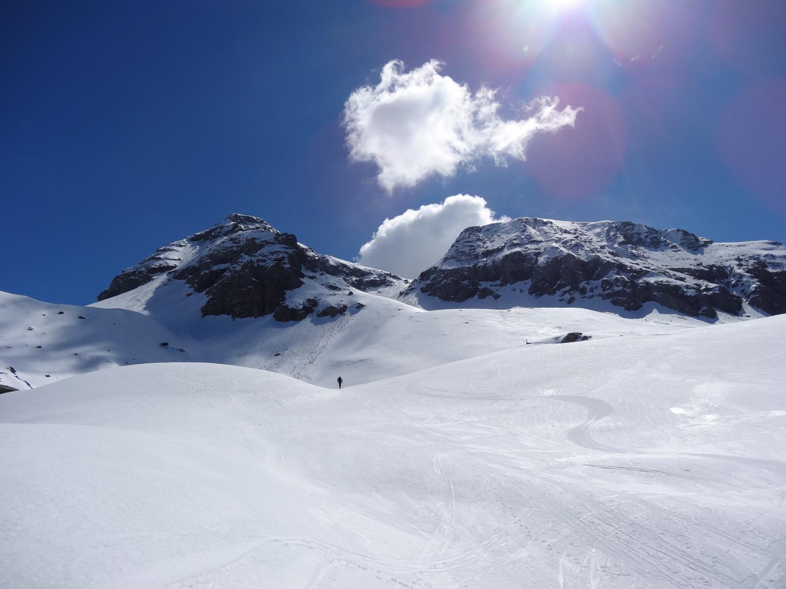 bei pendii e bella neve