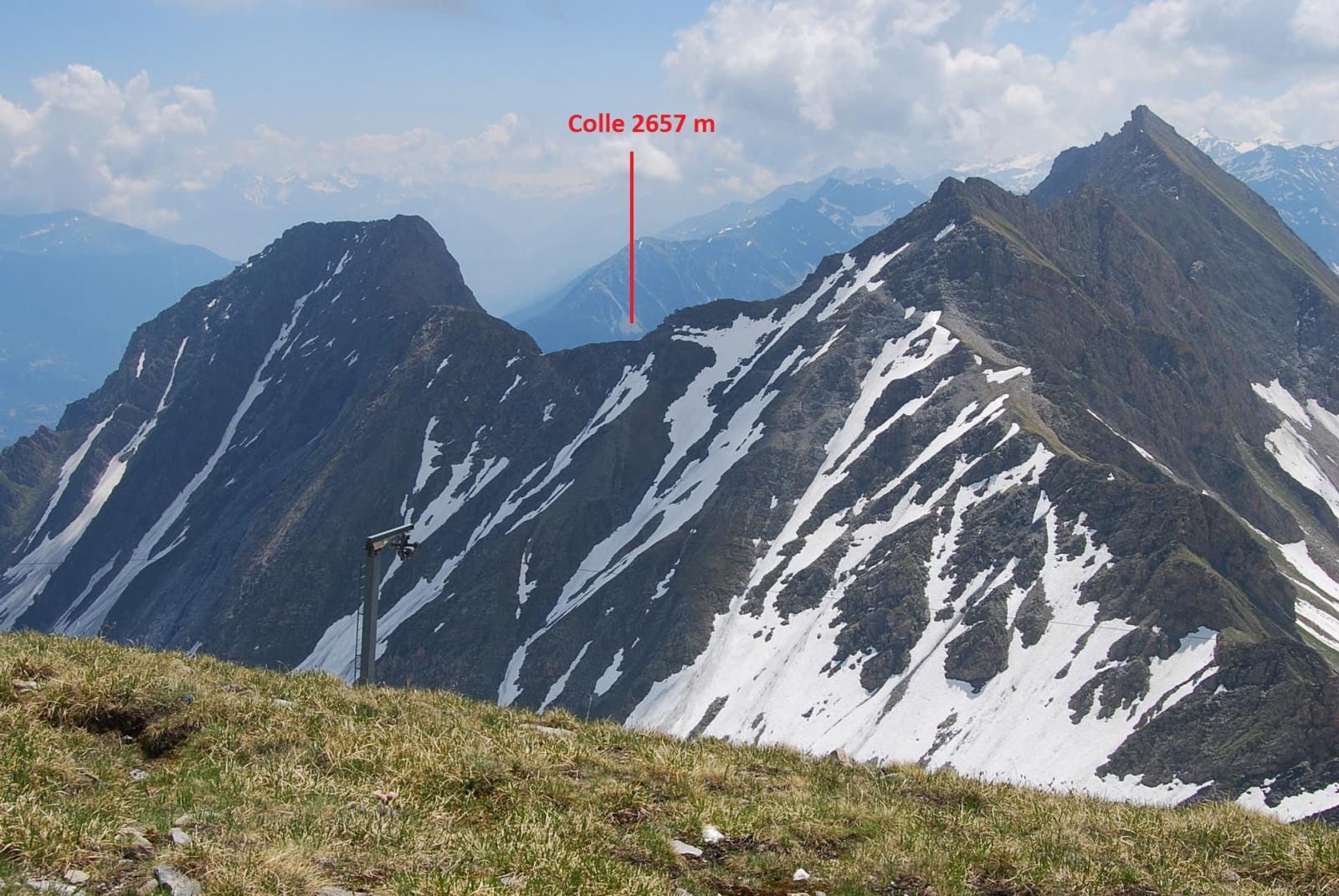 Il Crammont ed il colle visti dalla Tete d'Arp (Luglio '13)