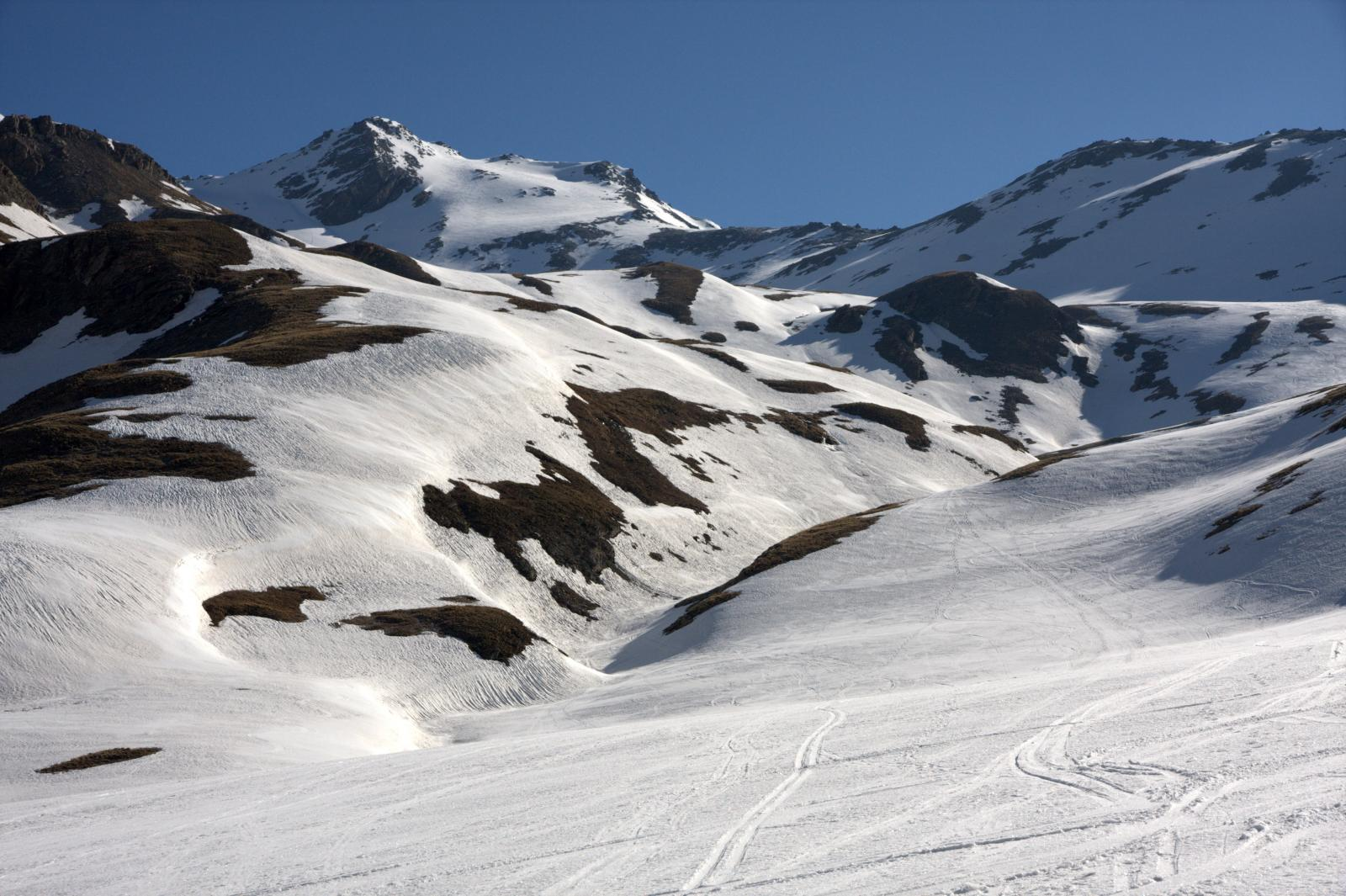 La parte alta del percorso con la cima sullo sfondo