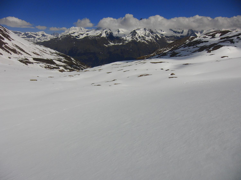 Si scende con panorama sulla Vanoise