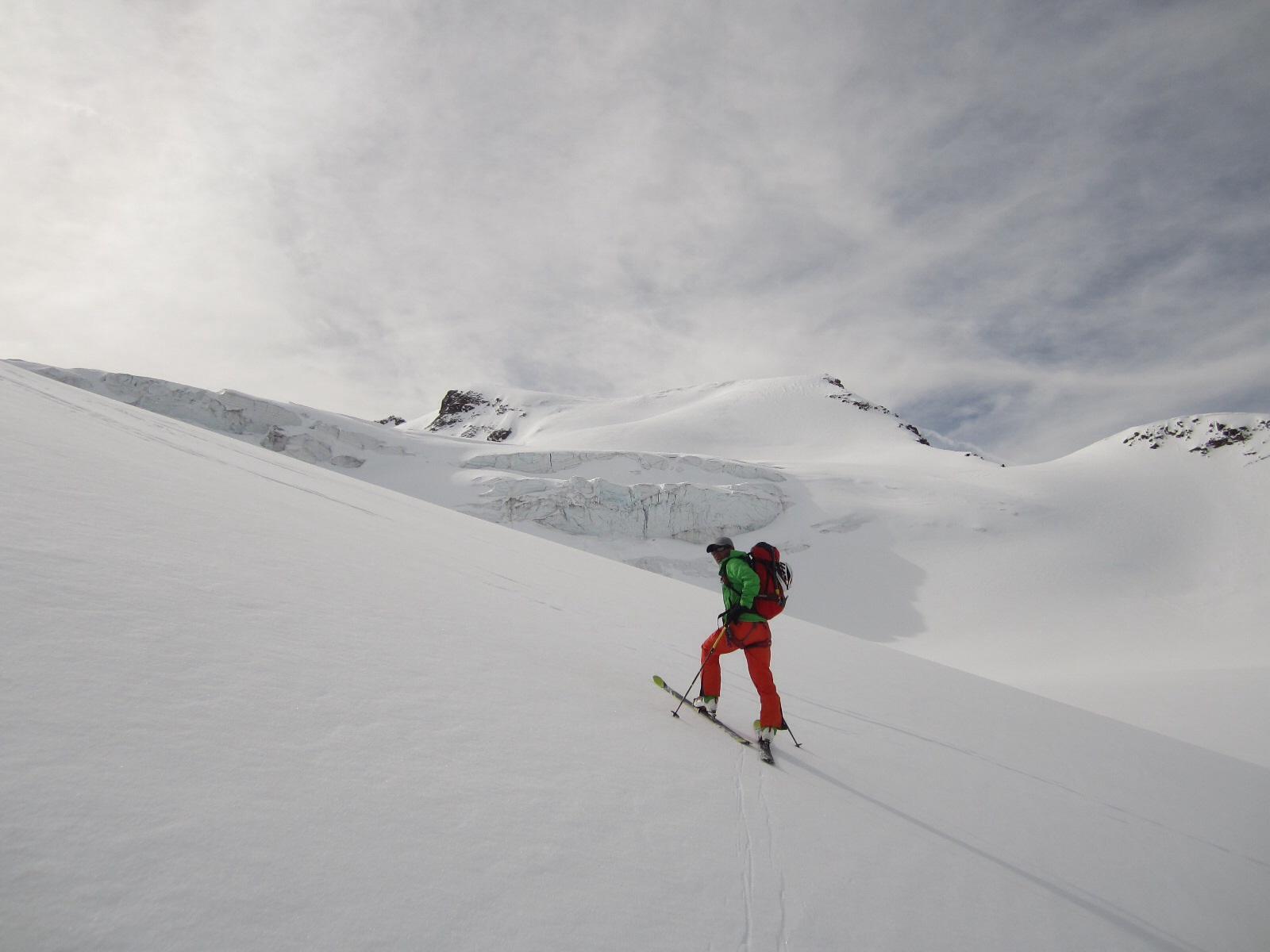 ....verso il secondo risalto del ghiacciaio...