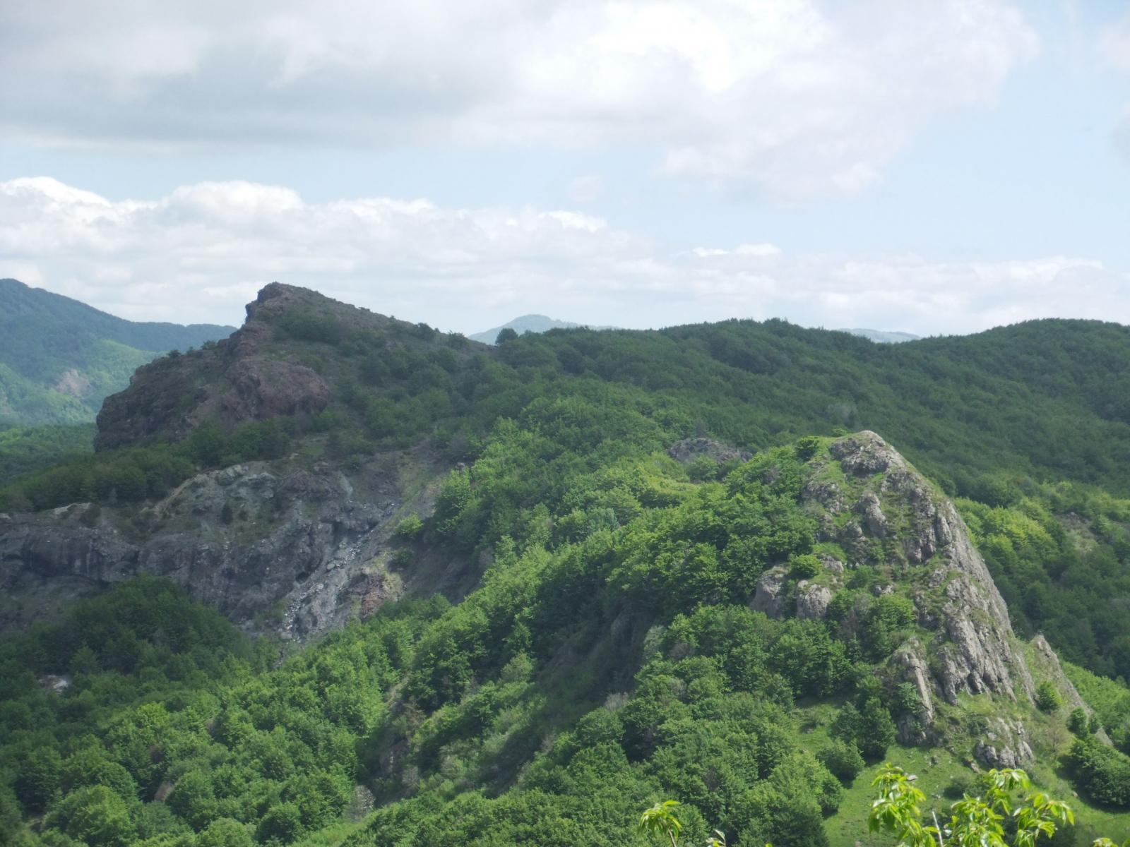 Gifarco e Roccabruna dal Castello del Fante