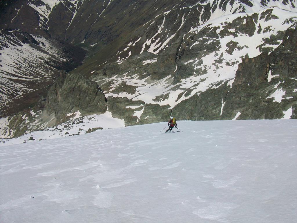 Rognosa d'Etiache (cima NE) dal vallone della Rognosa 2014-05-24