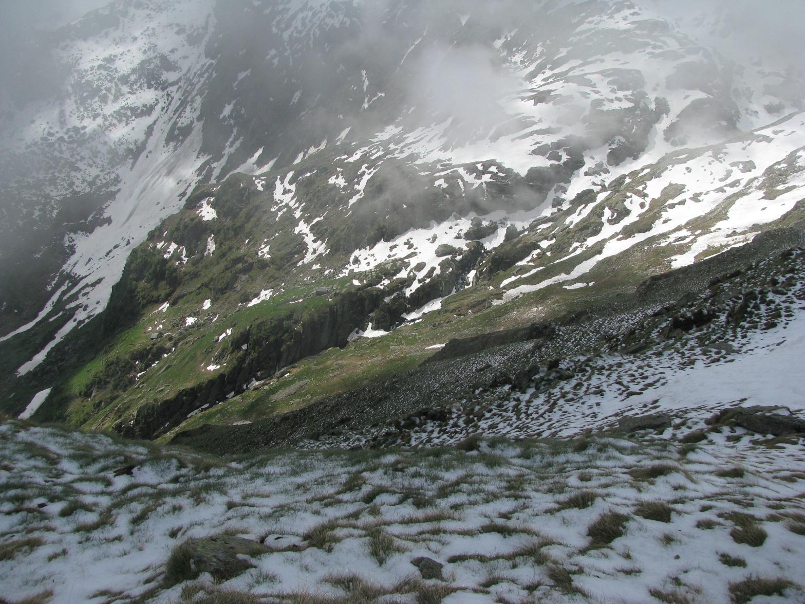 I viscidi pendii del Monte Rosso