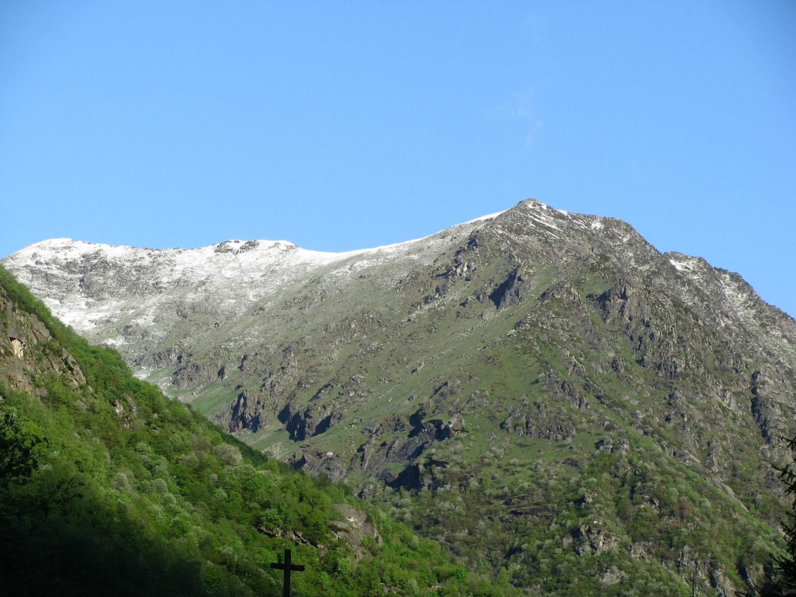 Sguardo sul Monte Rosso alla partenza