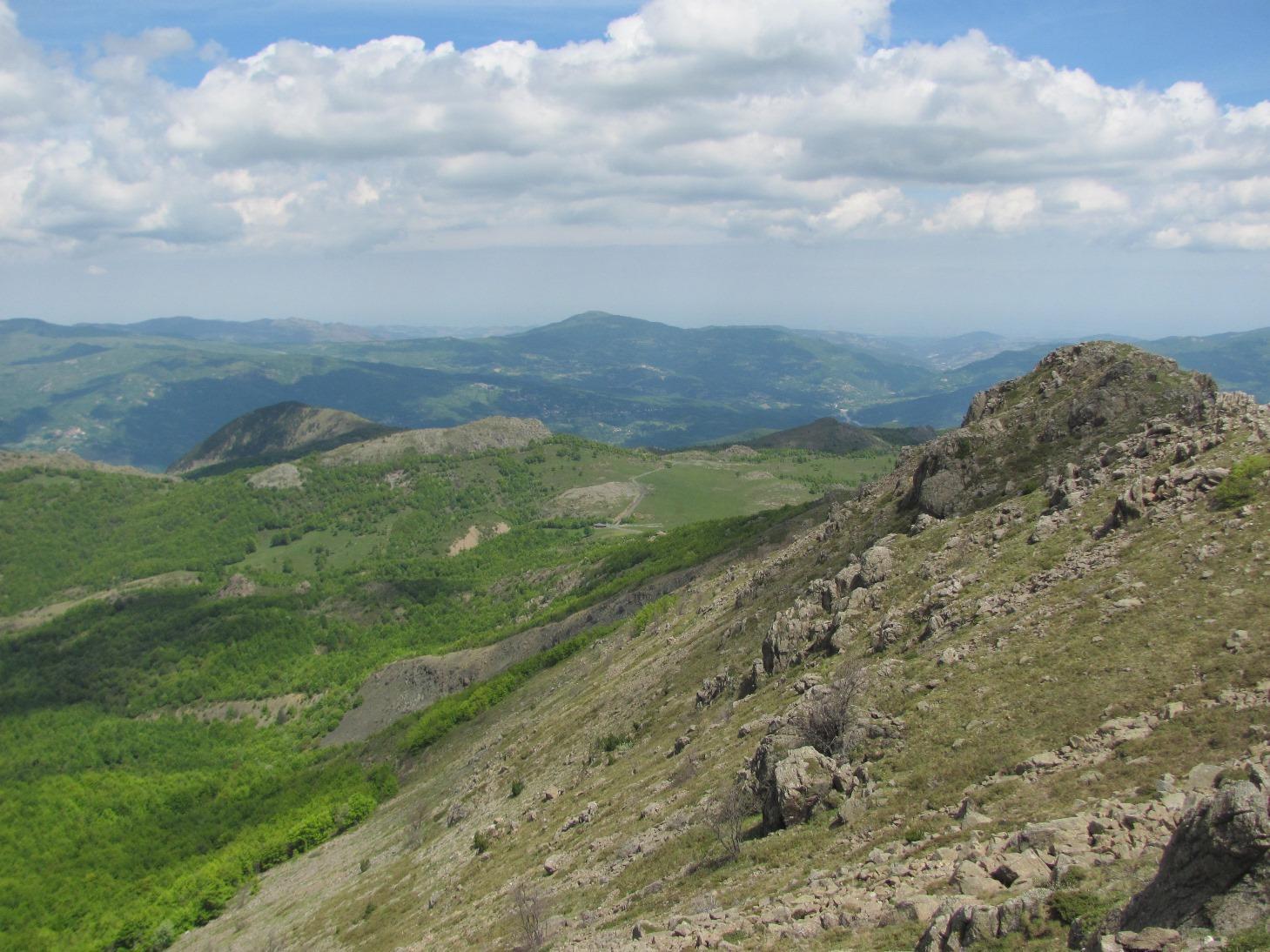 Panorama dalla vetta del Monte Ragola