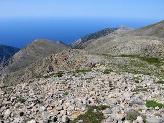 La cresta percorsa per arrivare allo Strifomadi