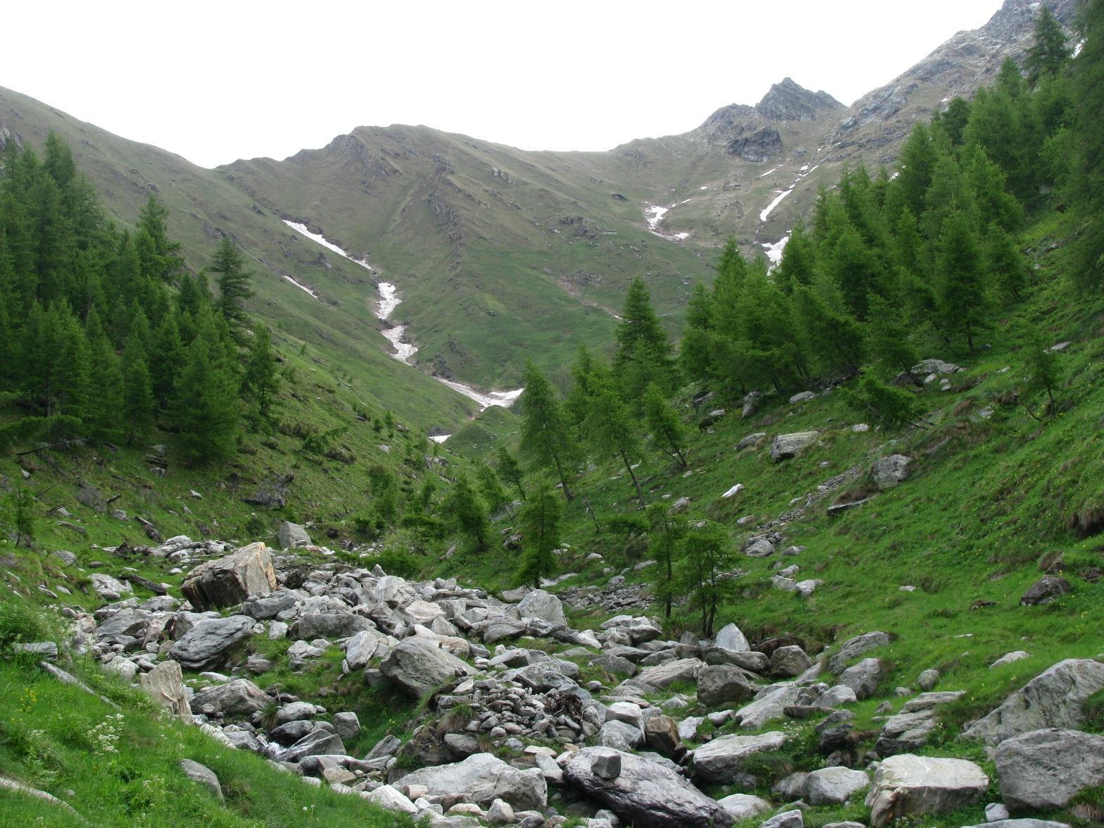 Il M. Autaret, domina l'oggi grigioverde Vallone del Sasset