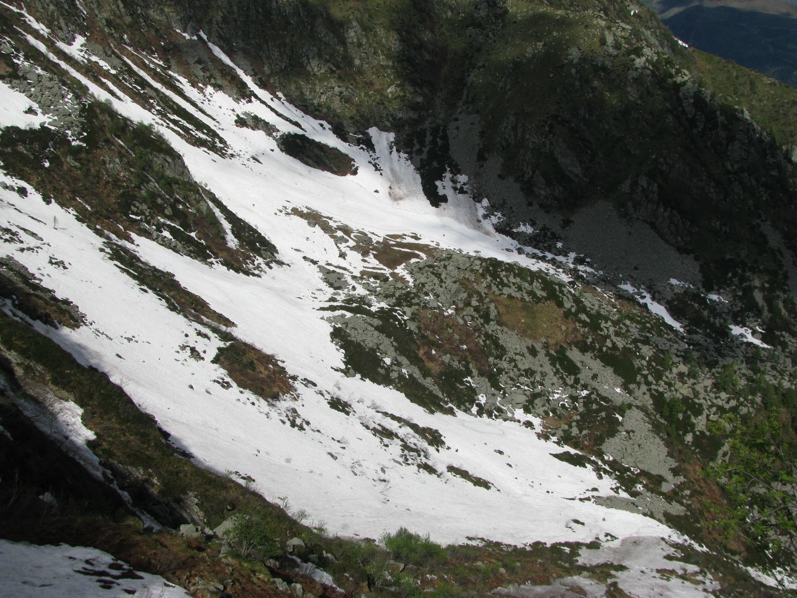 Vista sulla conca dell'Alpe Pian delle Marmotte