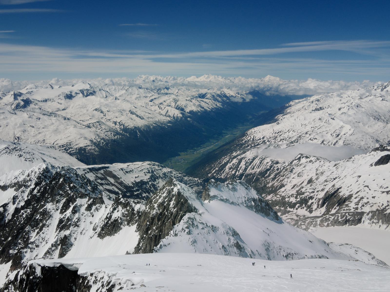 Vista sul Goms e sulle montagne del Vallese