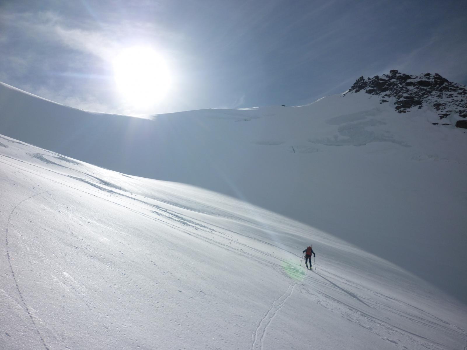 fulvio nella parte alta del ghiacciaio