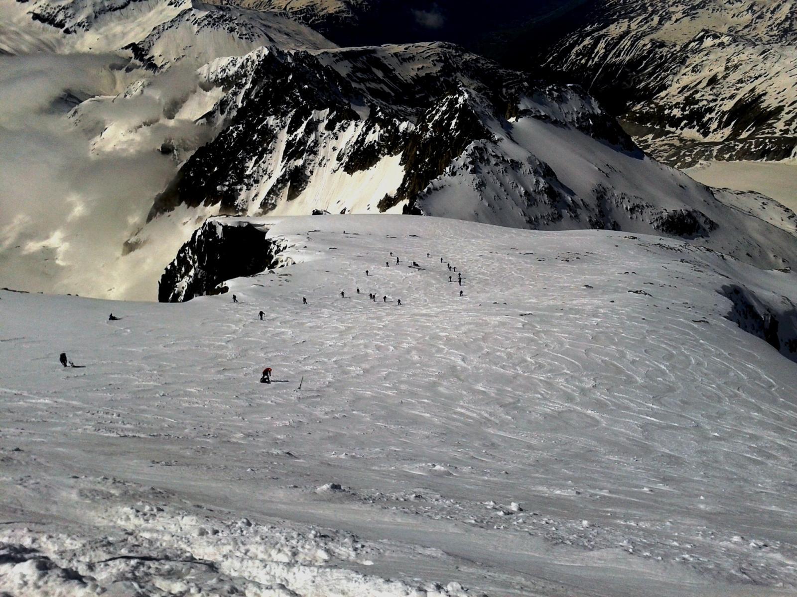 La pala finale vista dal deposito sci