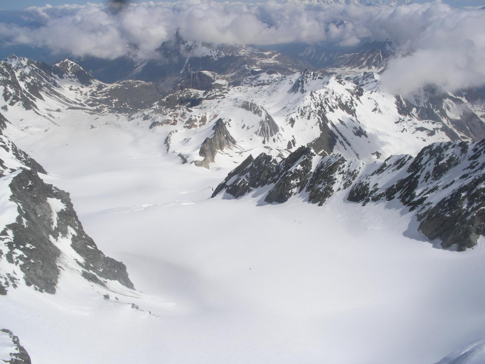 il glacier de Gebroulaz dall'Aig. de Polset..