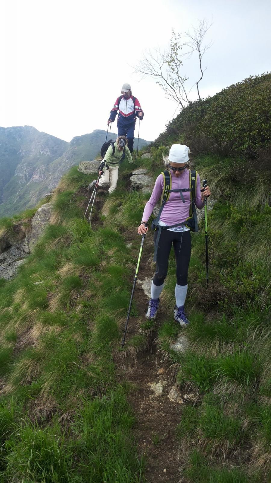 percorso sulla cresta ovest del Ventolaro