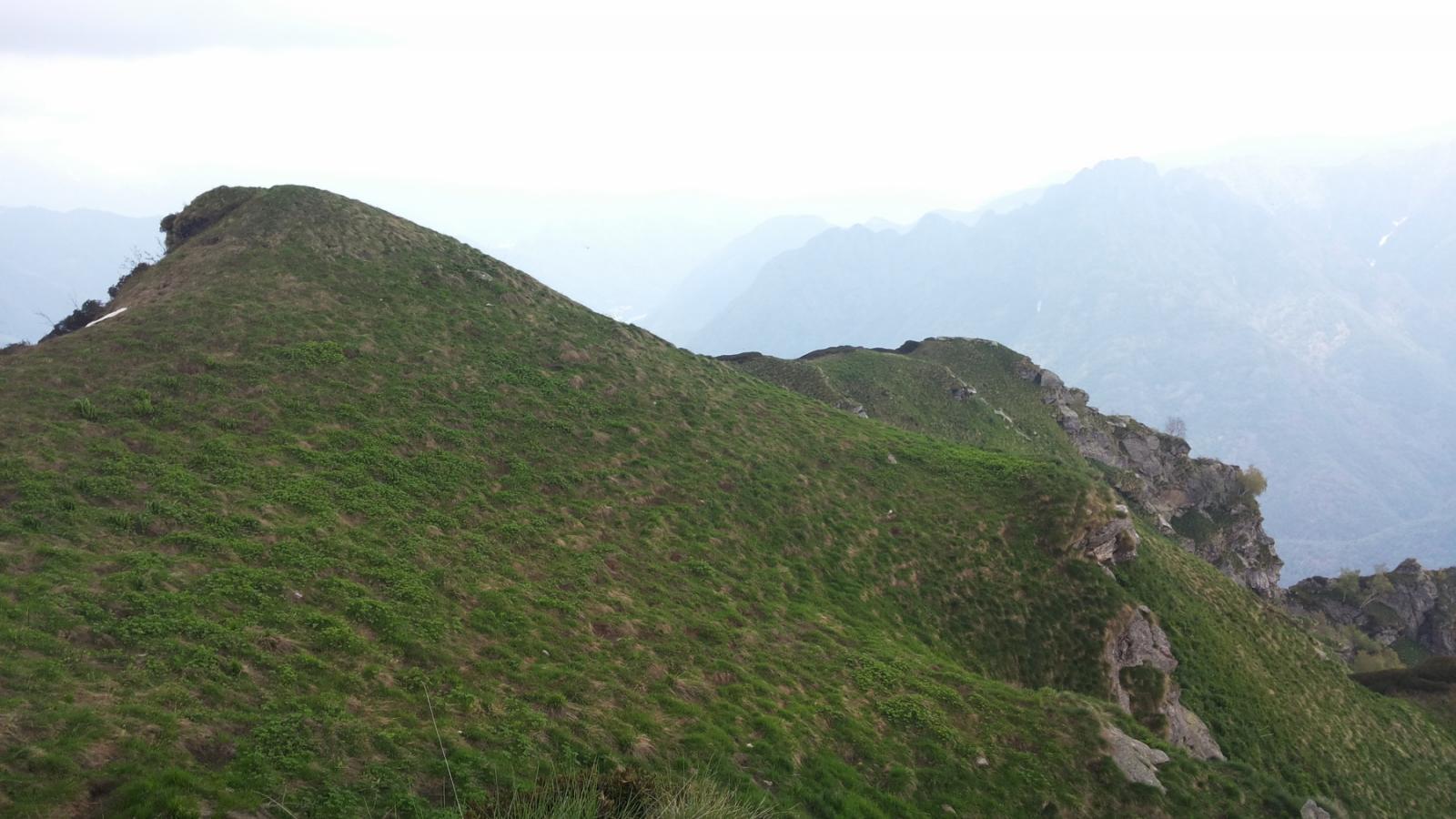 la più ampia e facile cresta orientale