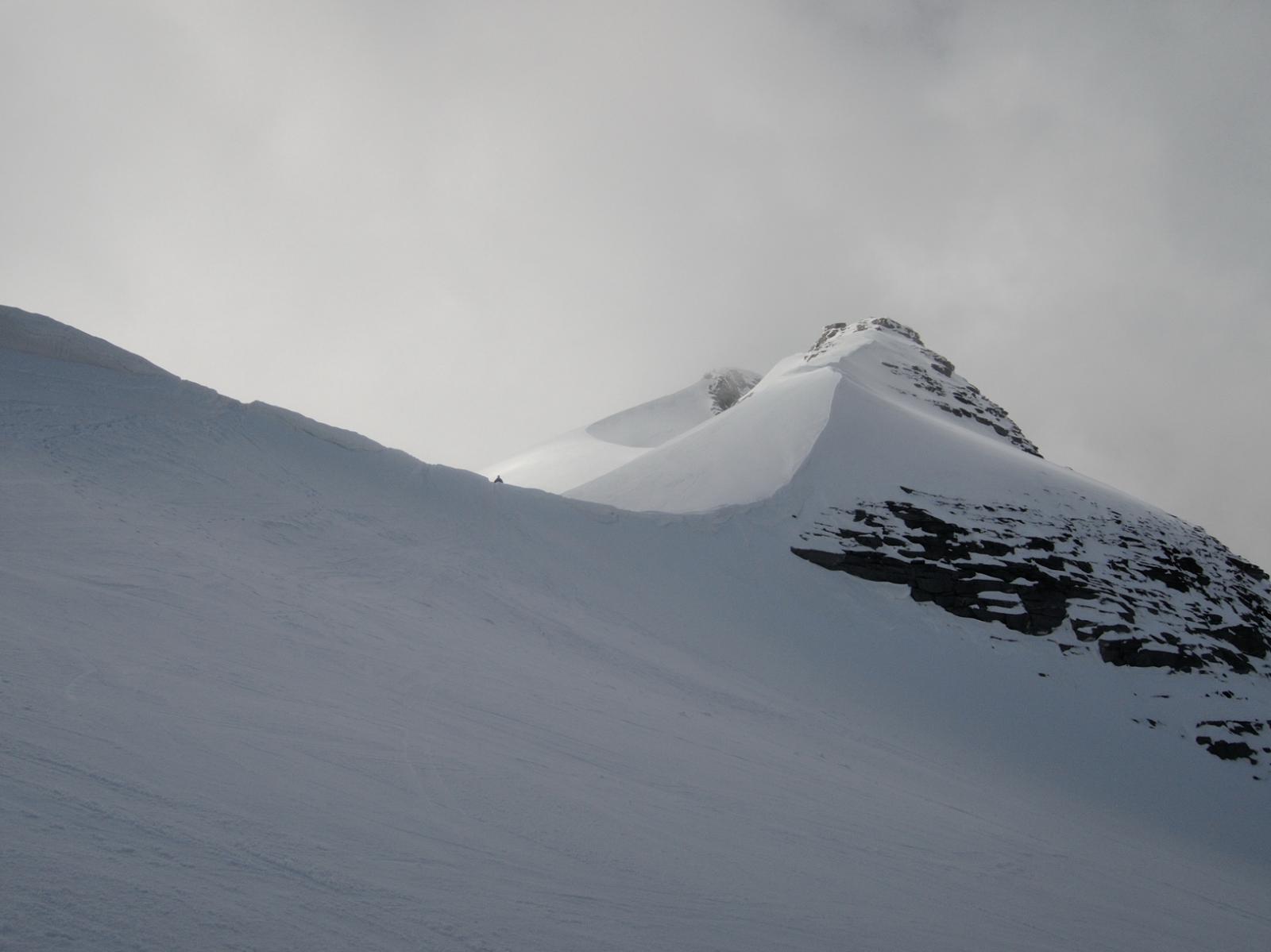 Cornice al Breithornpass e cima