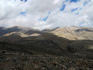 La zona attraversata; La punta più lontana sulla destra è il Trocharis.