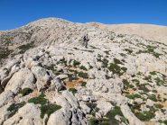 La dorsale rocciosa che porta ai Kendakia