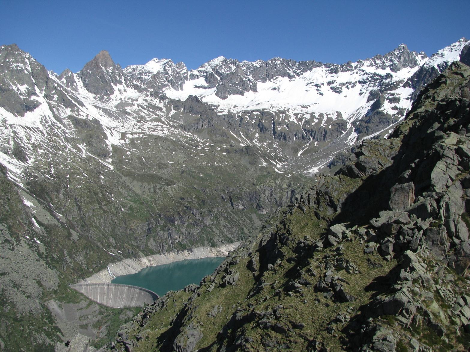 Dalla cima, panorama sulla testata di Piantonetto