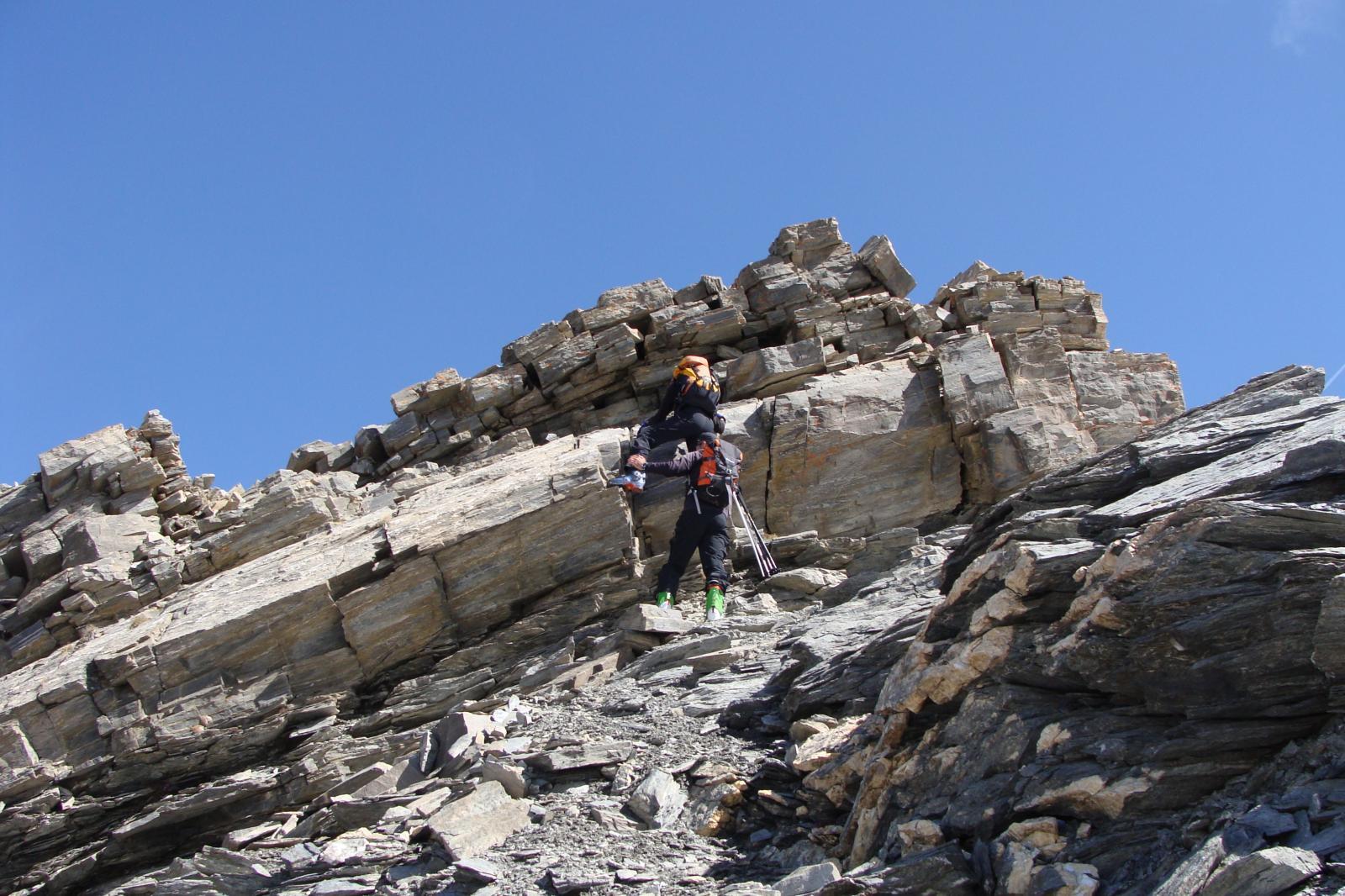 tratto con saltino di roccia