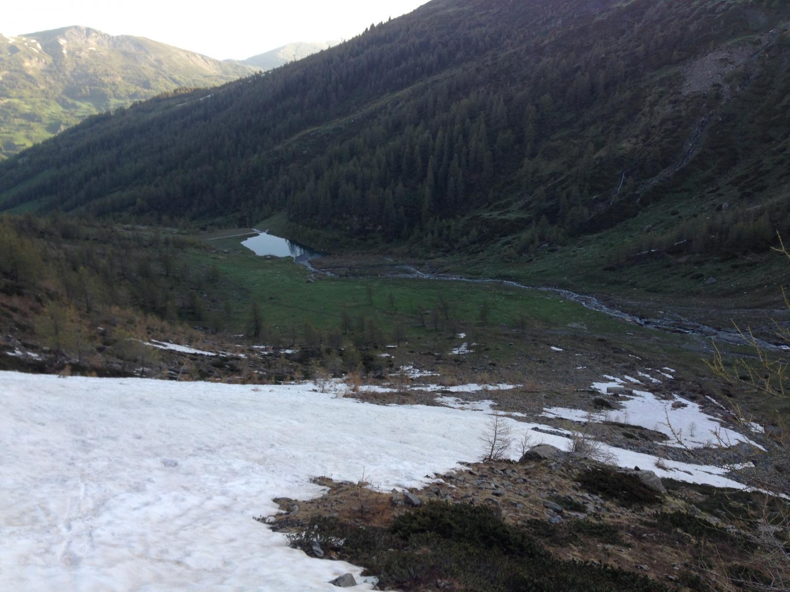 La salita sulla striscia di neve di San Giacomo