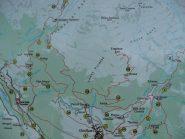 Cartina bacheca, percorso facile e ben segnalato