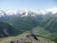 Valleile e Valnontey dalla Tsaplana, primo rilievo lungo la salita