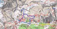 cartina e percorso fatto
