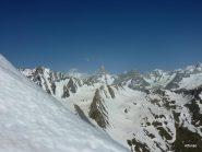 le Jorasses dalla cima del Fourchon