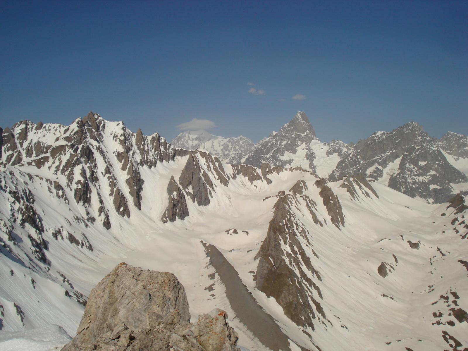 il panorama dalla vetta del Fourchon