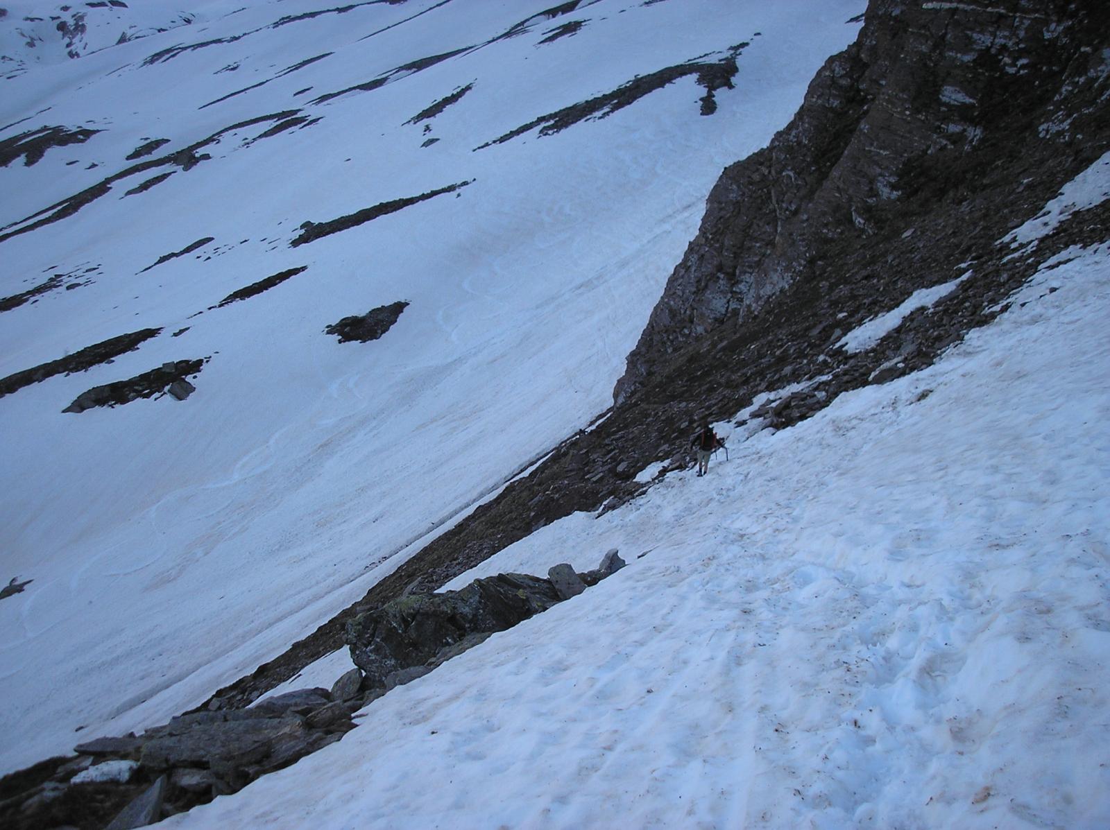 traverso per immettersi sul homattu gletscher