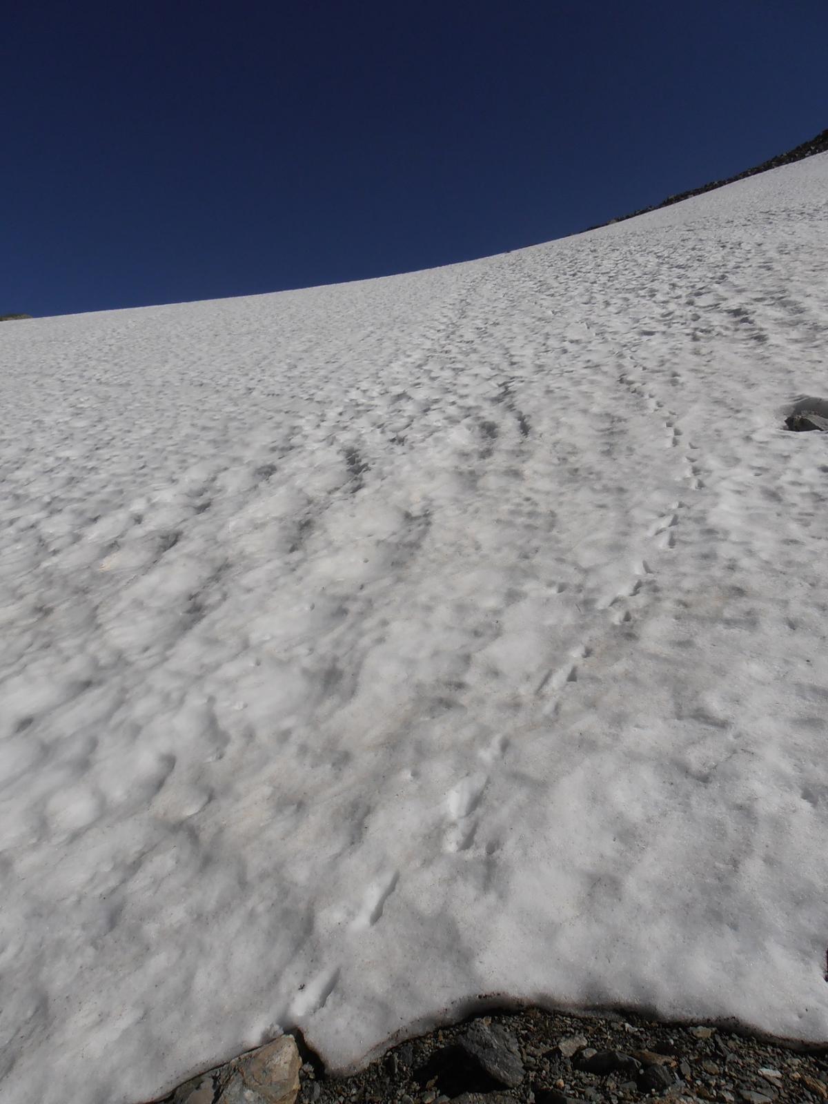 04 - il nevaio sotto il bivacco, tra 30 e 35 gradi