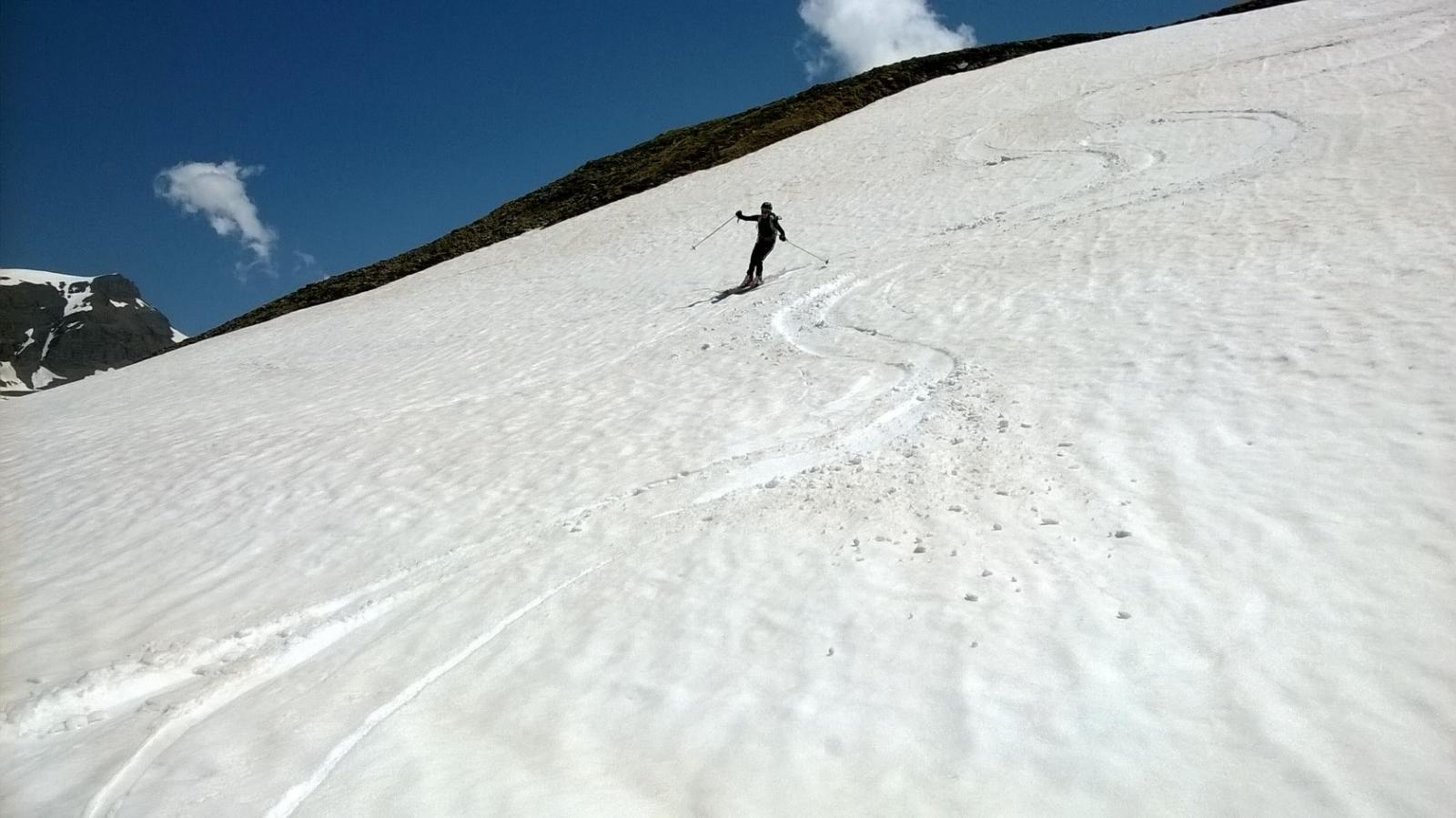Ultimo tratto con neve divertente