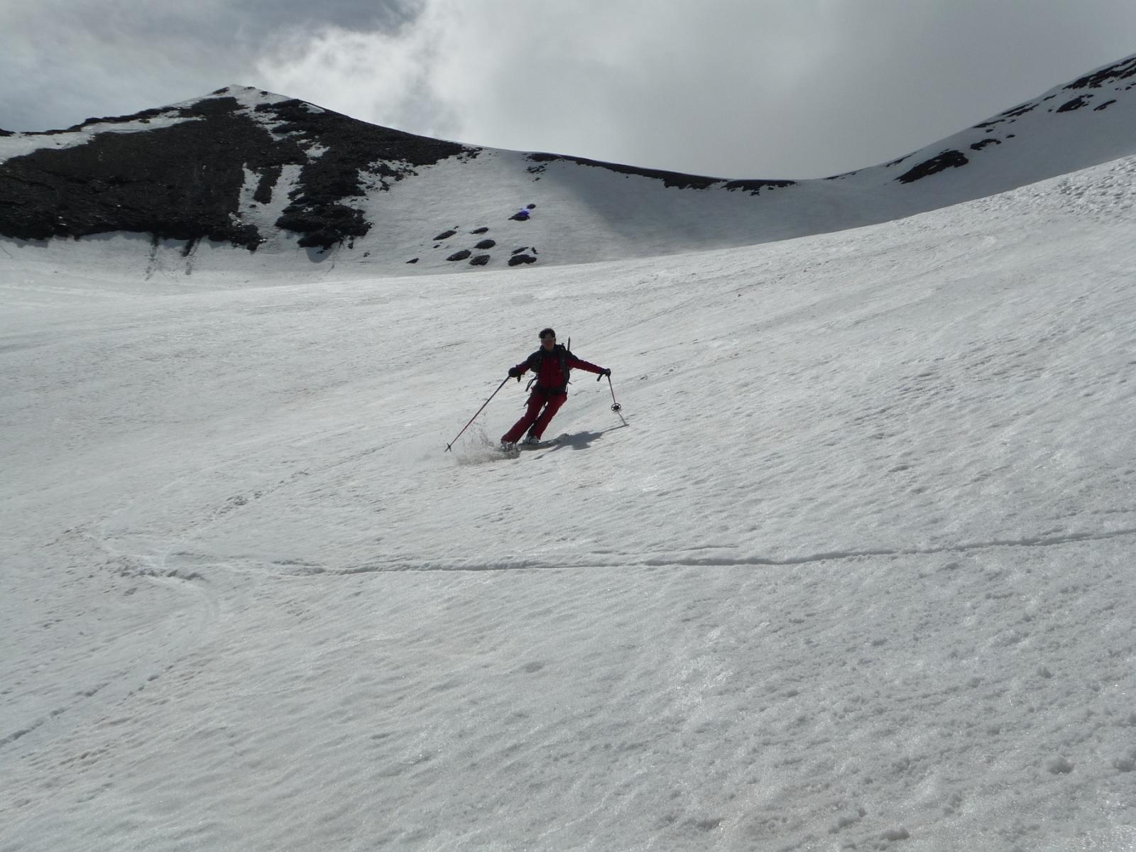 Belle curve sul ghiacciaio