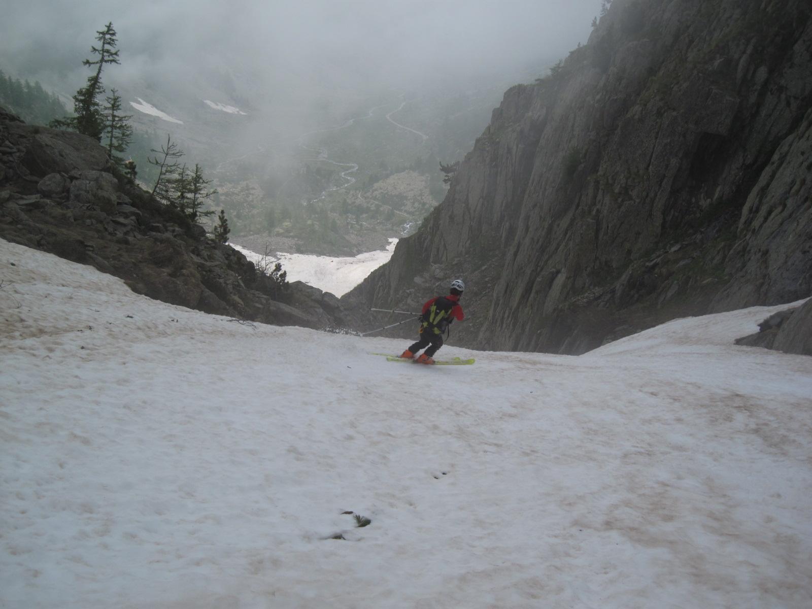 sciando nel canalone
