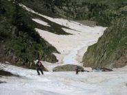 il passaggio obbligato e il pistone su neve estiva