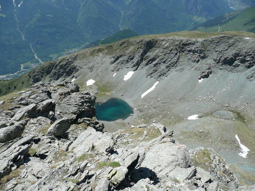 Conca del lago Jouglard dove abbondano camosci e marmotte