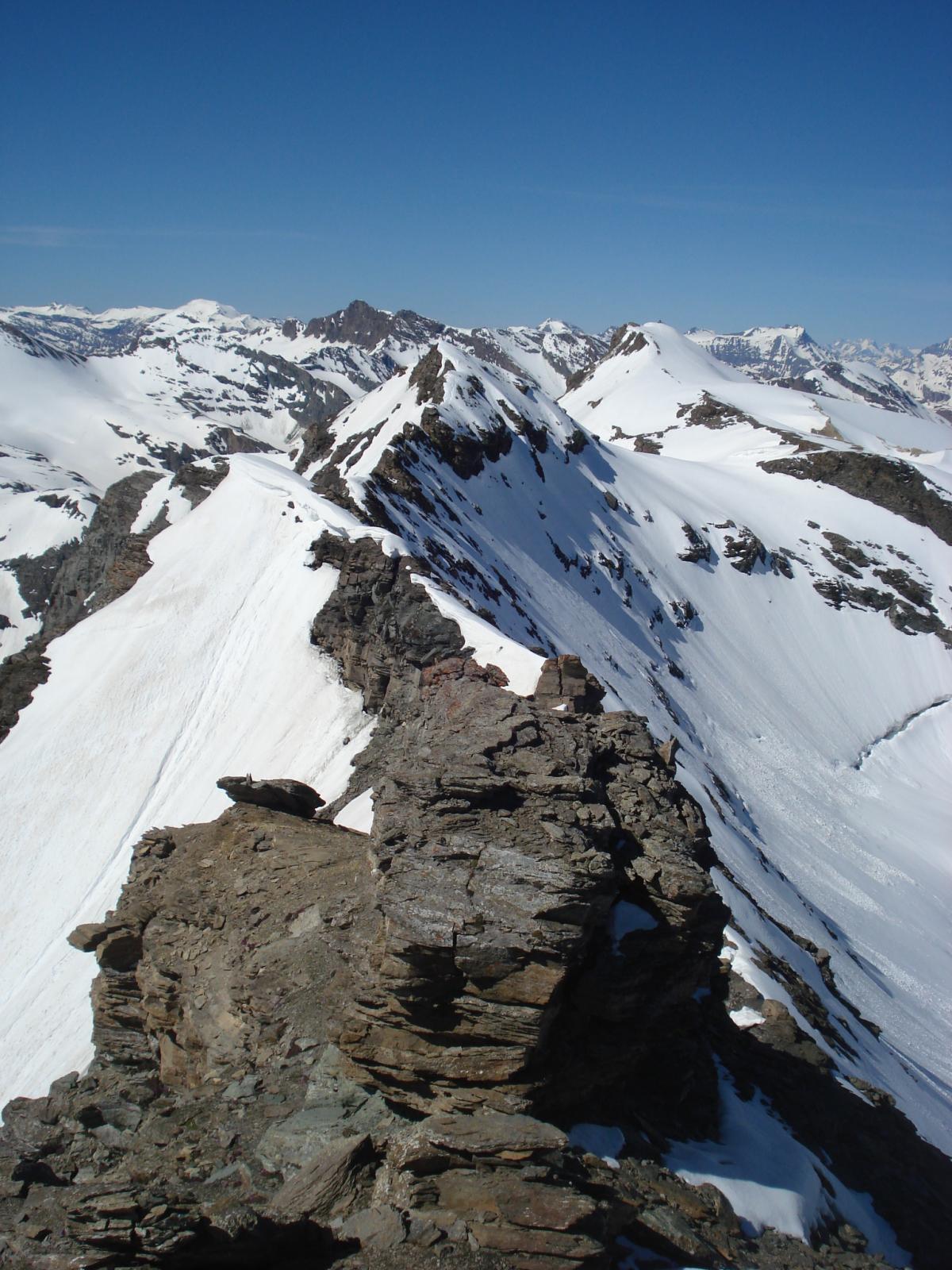 la cresta che conduce alla Galisia passando dalla Bousson