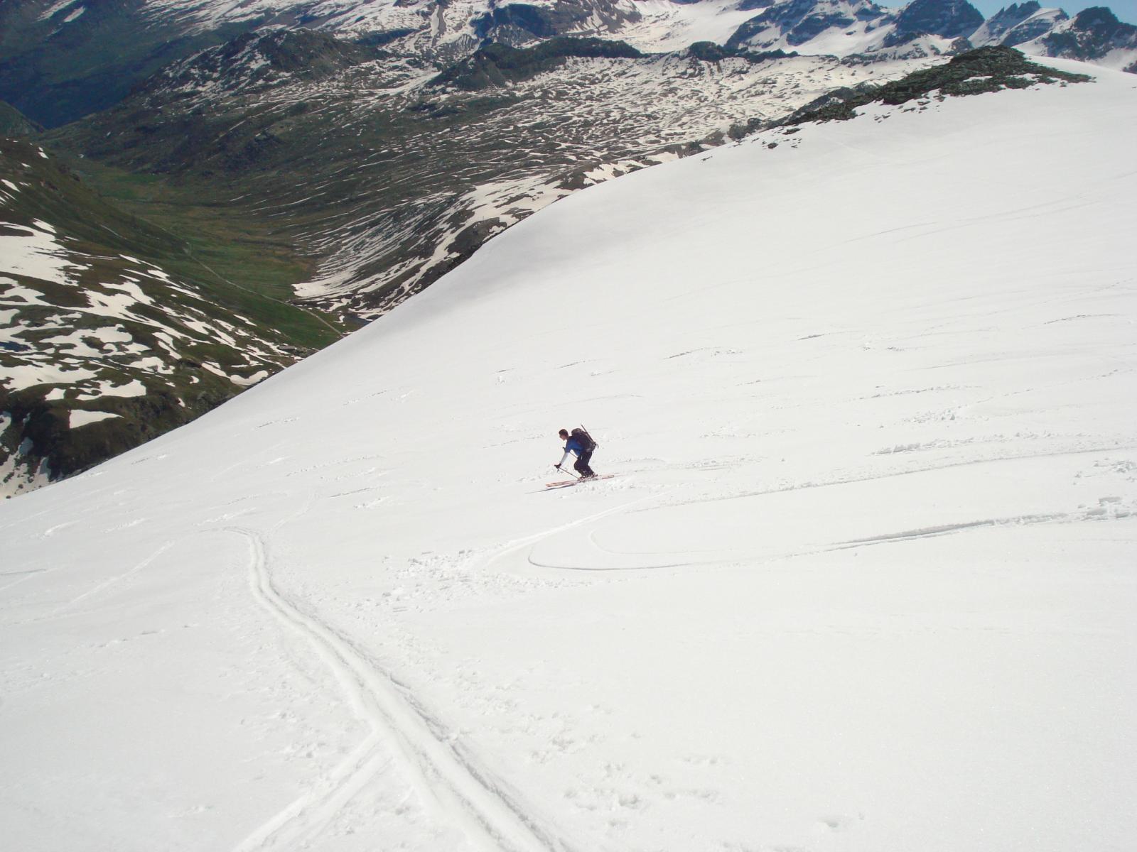 spettacolare la discesa sul ghiacciaio